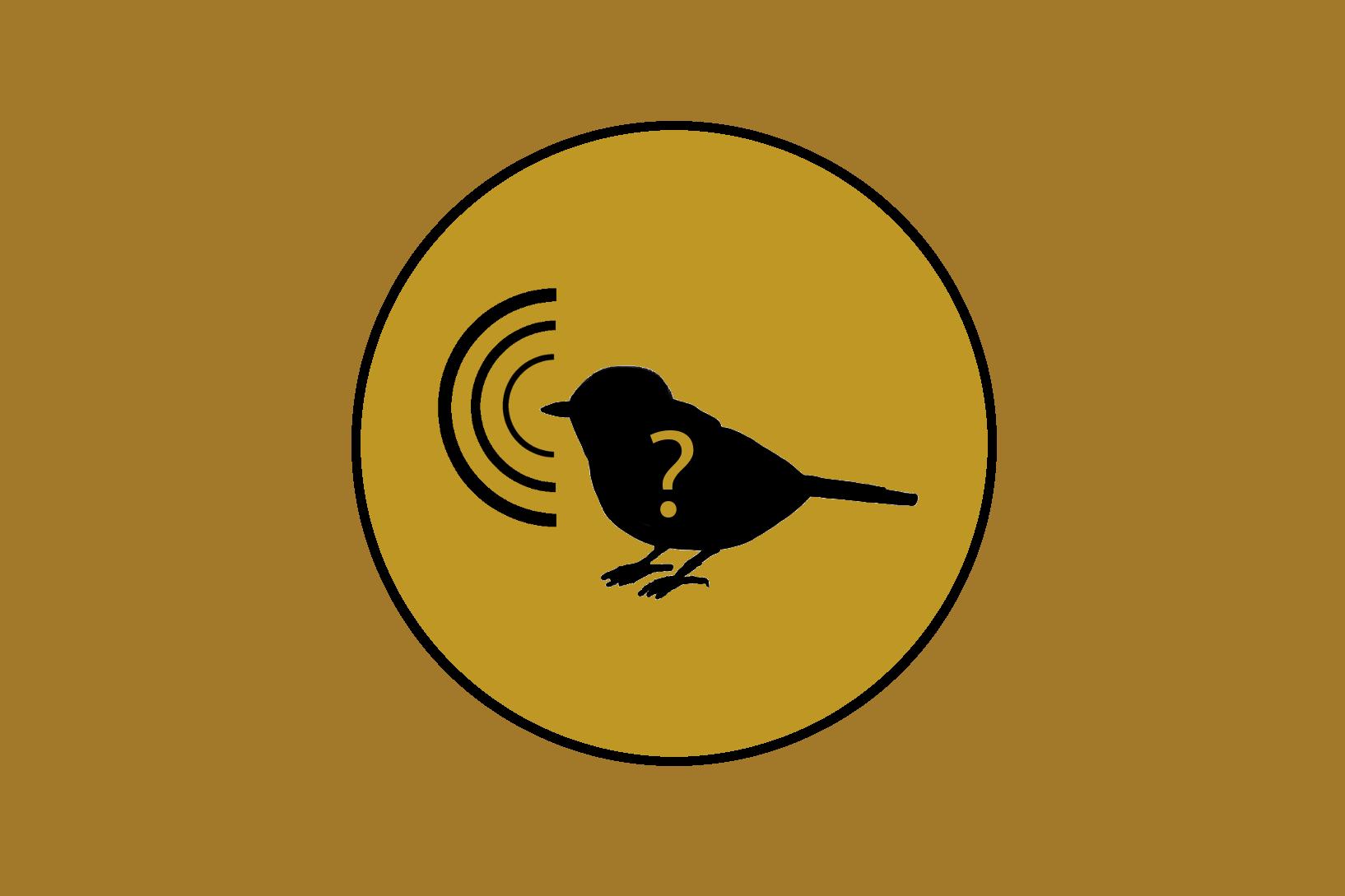 logo aplikace - zpívající pták
